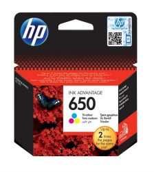 HP 650 Color eredeti Ink Advantage patron (CZ102AE)