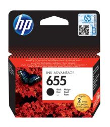 HP 655 Black eredeti Ink Advantage patron (CZ109AE)